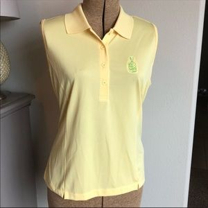 EP Pro Sleeveless Yellow Golf Polo Size Large
